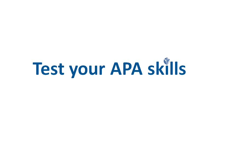 APA-quiz - Citing sources in APA style - LibGuides at